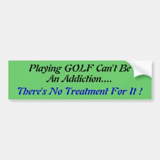 Humorous Golf bumper Sticker