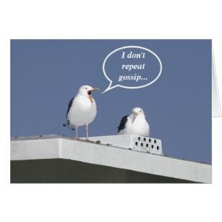 Humorous Gossiping Seagull Card Funny