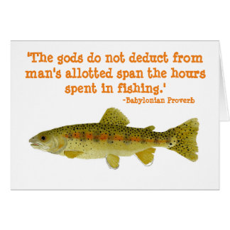 Humorous Greetings Card about fishing