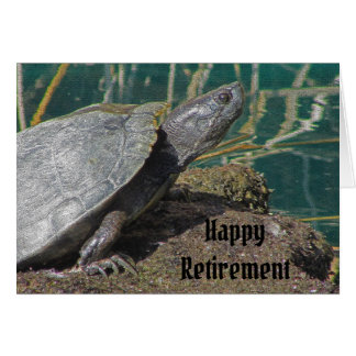 Humorous Happy Retirement Turtle Speed Enjoy Life Card