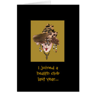Humorous Health Club Lady card