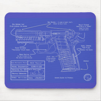 Humorous Idiot's Guide to Pistol Cleaning Pad Mouse Pad