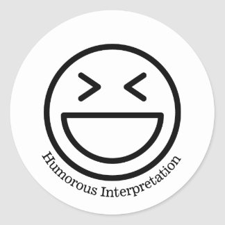 Humorous Interpretation 20 ct stickers