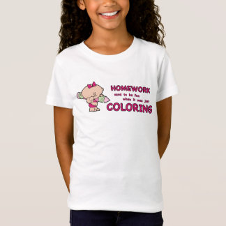 Humorous kid homework girl T-Shirt