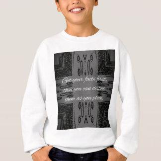 Humorous lying Quote On Goth Background Sweatshirt