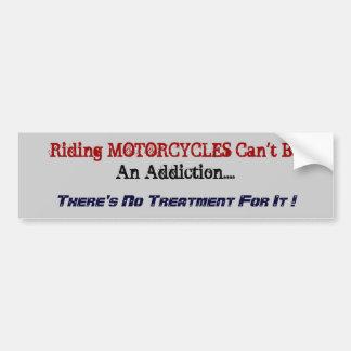 Humorous Motorcycle Bumper Sticker. Car Bumper Sticker