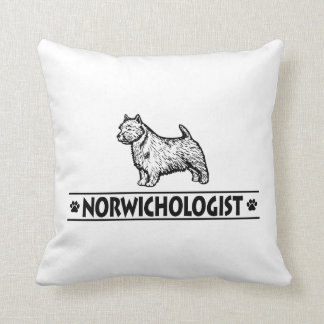 Humorous Norwich Terrier Pillow