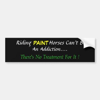 Humorous Paint Horse Bumper Sticker