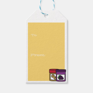 Humorous peanut butter and jelly pack of gift tags