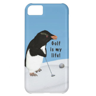 Humorous Penguin Playing Golf iPhone 5C Covers