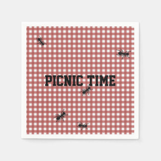 Humorous Picnic Ants Custom Napkins Disposable Napkins