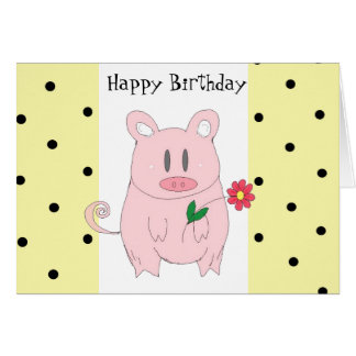 Humorous Pig Birthday Card