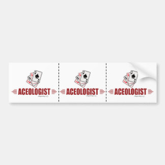 Humorous Playing Cards Bumper Sticker