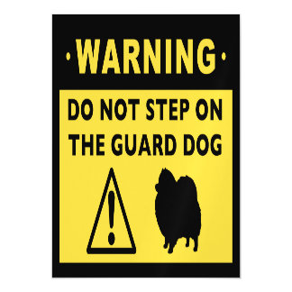 Humorous Pomeranian Guard Dog Warning Magnetic Invitations