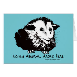 Humorous Possum Greeting Card