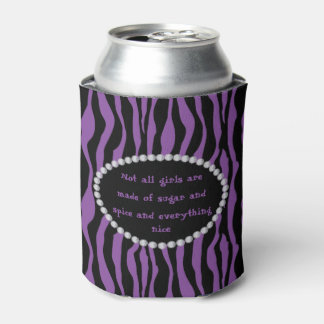 Humorous -Purple Zebra, Diamonds Not all Girls Can Cooler