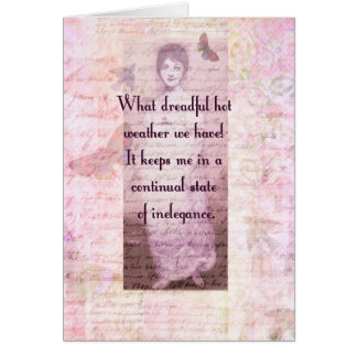 Humorous quote by Jane Austen Card