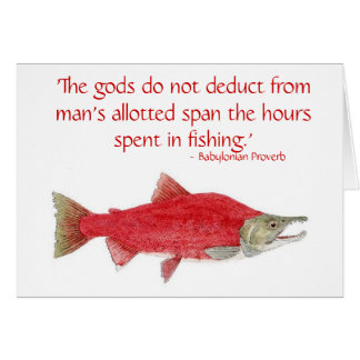 Humorous Salmon Card with quote 2