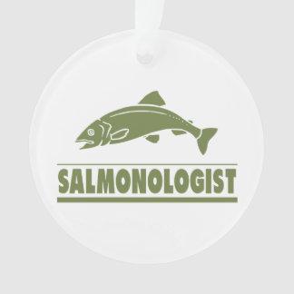 Humorous Salmon Fishing Ornament