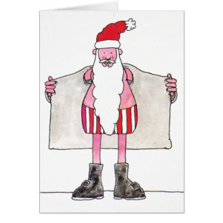 Humorous Santa Claus Christmas Card