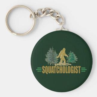 Humorous Sasquatch, Squatchologist, Squatchin Basic Round Button Keychain