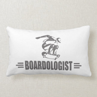 Humorous Skateboarding Lumbar Pillow