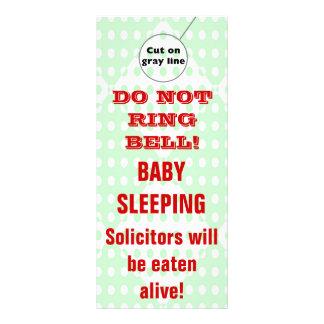 Humorous Sleeping Baby Door Hangers Doorhanger Rack Cards