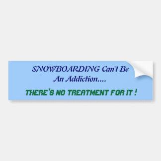 Humorous Snowboarding Bumper Sticker