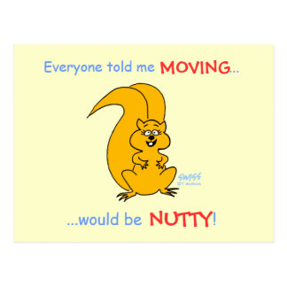 Humorous Squirrel Moving Announcement Postcard