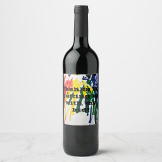 Humorous teacher wine label