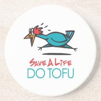 Humorous Tofu Design Coaster