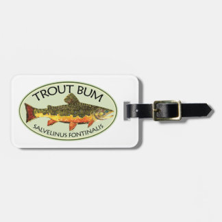 Humorous Trout Fishing Luggage Tag