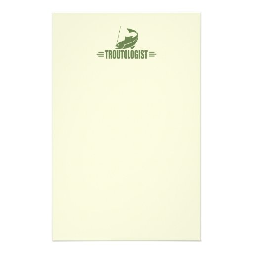 Humorous Trout Fishing Stationery Paper