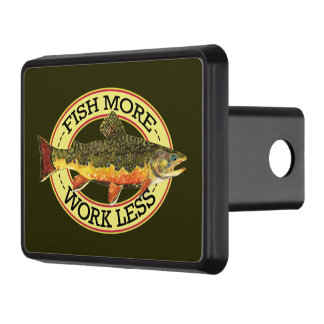 Humorous Trout Fishing Trailer Hitch Cover
