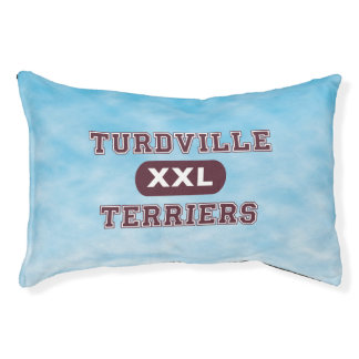 Humorous Turdville Terriers Small Dog Bed