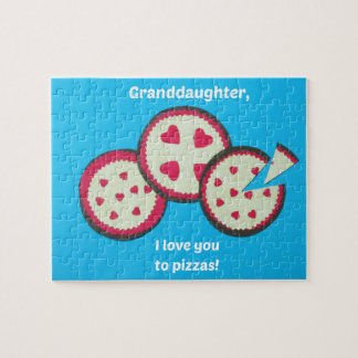 Humorous Valentine message for Granddaughter Jigsaw Puzzle