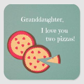 Humorous Valentine message for Granddaughter Square Sticker