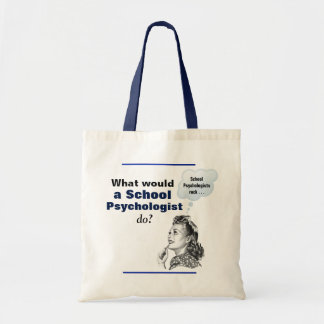 Humorous Vintage-Inspired School Psychology Tote
