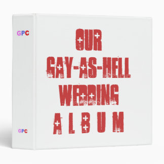 Humorous Wedding Album Binder