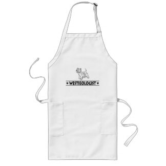 Humorous West Highland White Terrier Long Apron