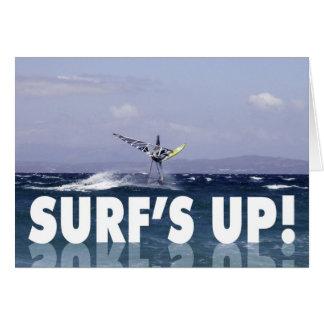 Humorous Windsurfer Birthday for Him Card