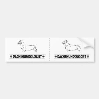 Humorous Wirehaired Dachshund Bumper Sticker