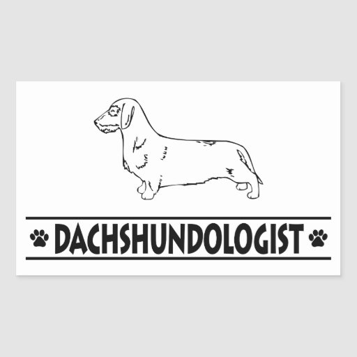 Humorous Wirehaired Dachshund Rectangle Sticker