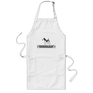 Humorous Wirehaired Fox Terrier Long Apron
