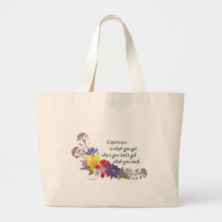Humorous Wisdom Large Tote Bag