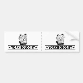 Humorous Yorkshire Terrier Bumper Sticker