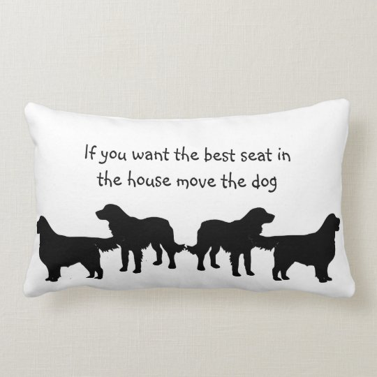 Humour Best Seat in house Dog Pet Animal Lumbar Pillow