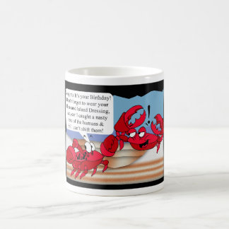 Humour Birthday Card with two crabs Coffee Mugs