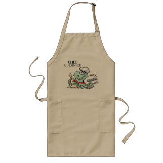 Humour: cook - long apron