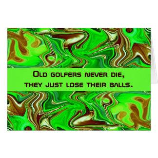 humour de golfeurs carte de vœux